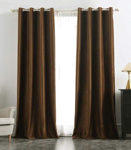 Velvet Curtain Brown-min