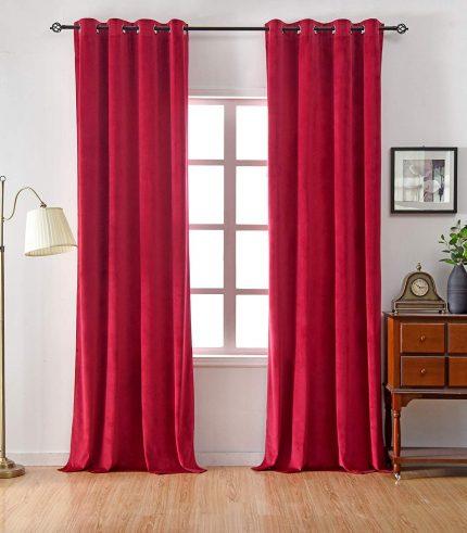 Velvet Curtain Red-min