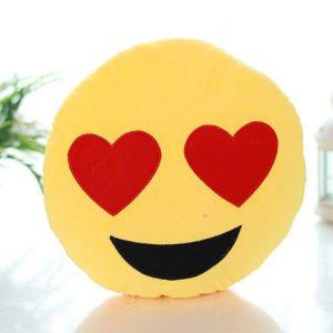 smiley face emoji cushion